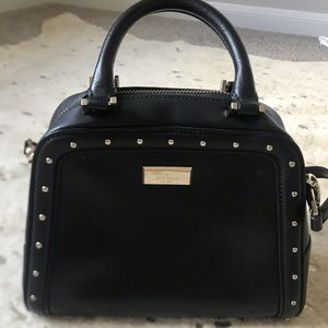 Kate Spade Black Purse with Gold Detailing